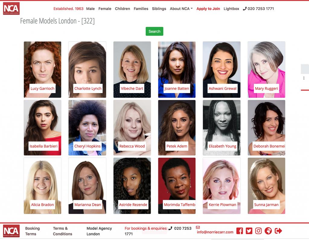 websites for model agencies