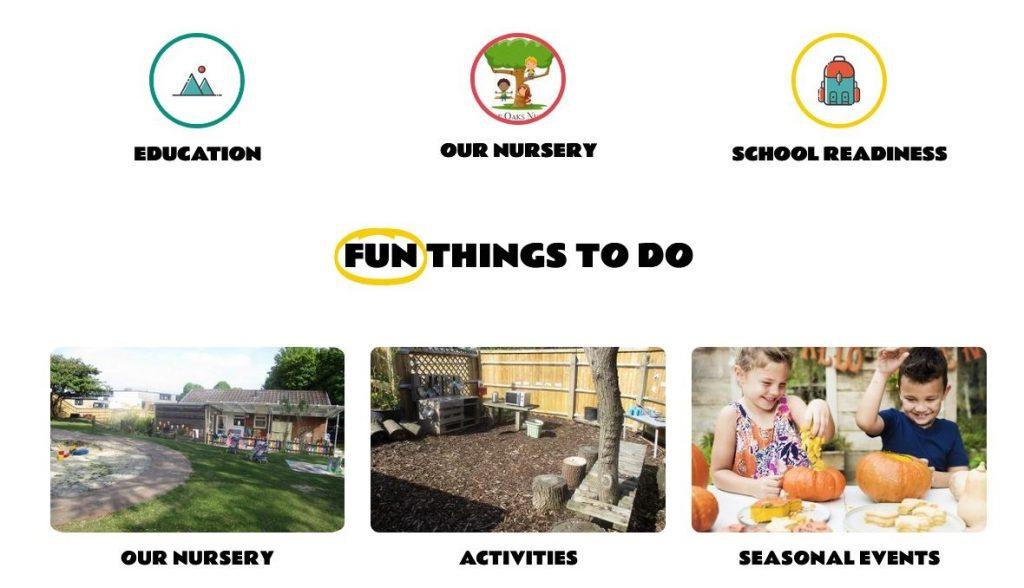nursery school word press design