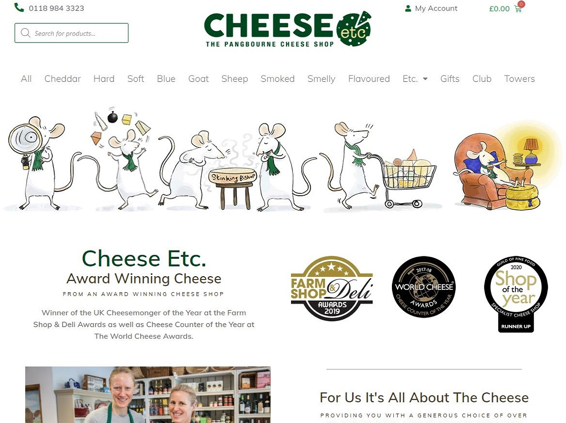 cheese-etc in pangbourne website designed by artofdata