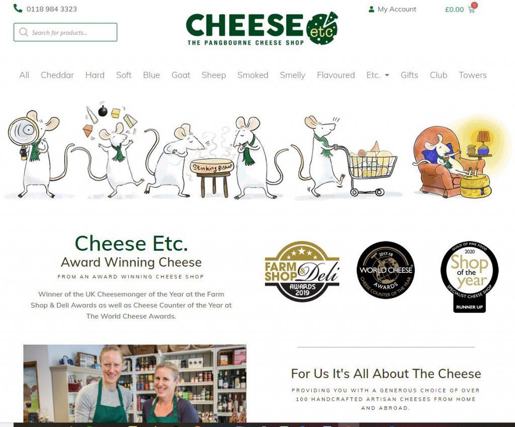 cheese-etc pangbourne. Retail website designers ArtofData