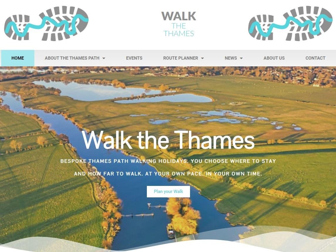 the thames path web site design