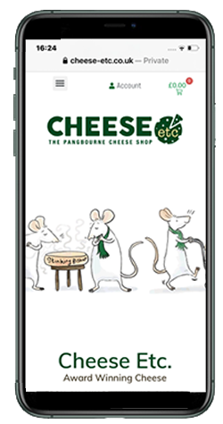 cheese-etc pangbourne. Retail webs design ArtofData